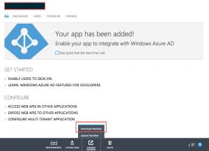 AAD app manifest configuration