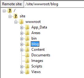 Azure Website Files hierarchy