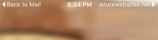 Applinks in the mobile app - screenshot