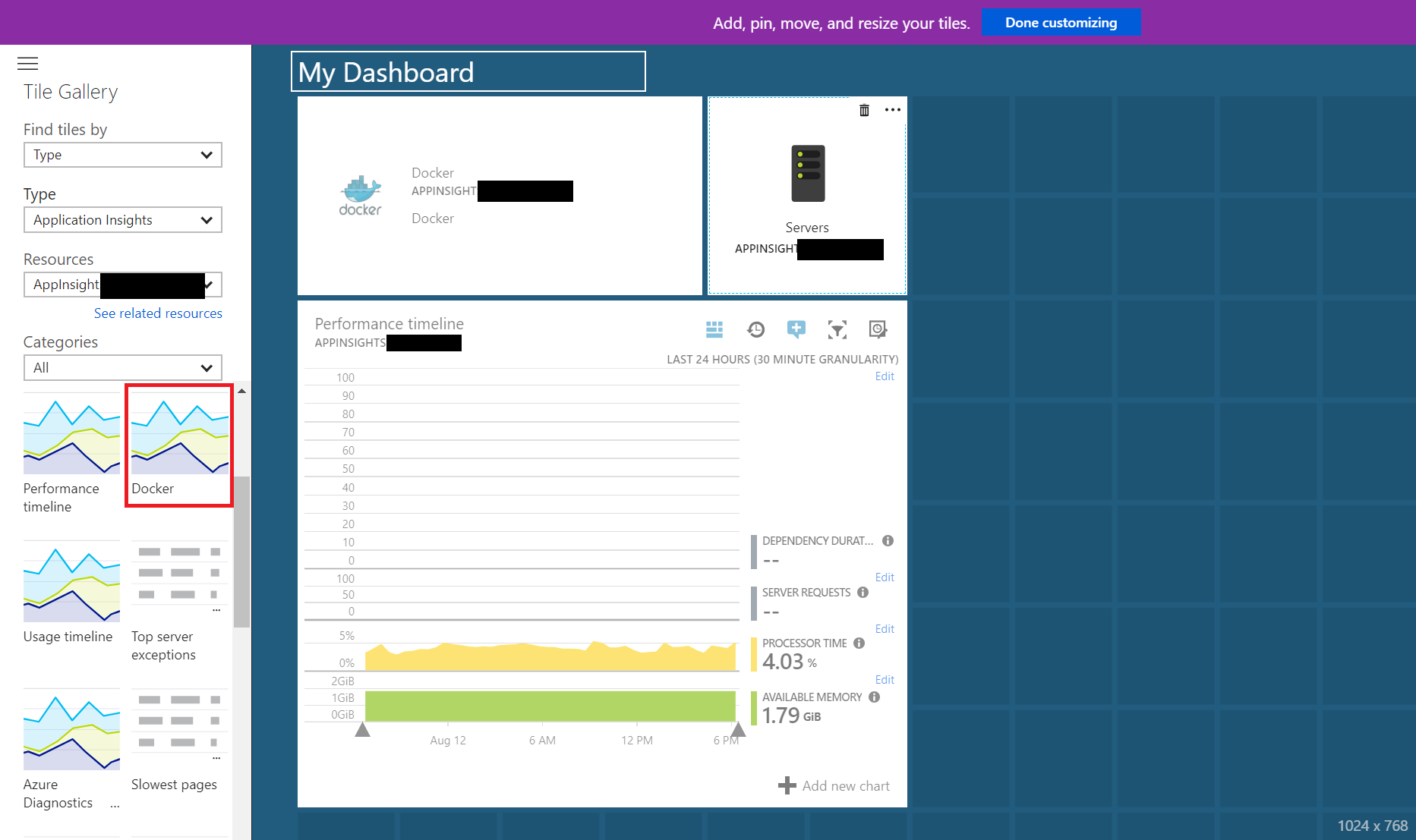 Azure App Insights - Docker Overview Reports